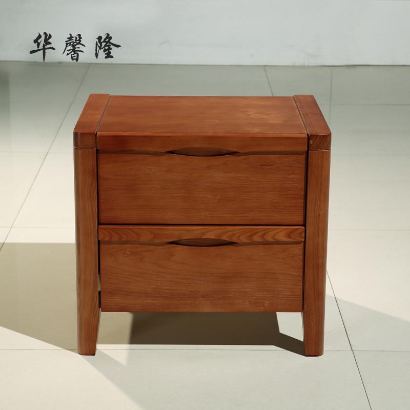 华馨隆 水曲柳原创款箱框结构储藏成人现代中式 床头柜