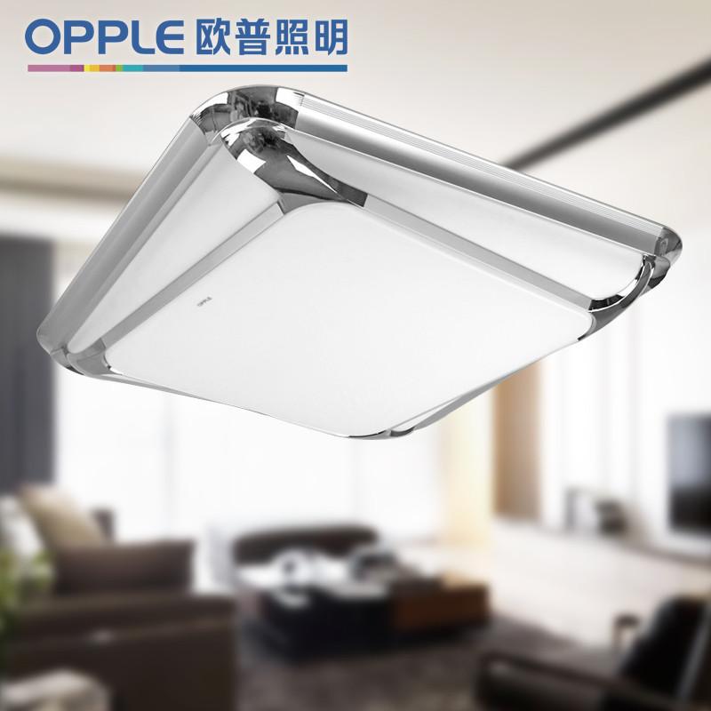 欧普照明 PMMA高透光率灯罩ABS+五金底盘简约现代荧光灯 12-XD-38885吸顶灯