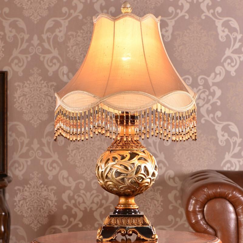 wanlang 布树脂欧式镂空雕花白炽灯 ck5504台灯