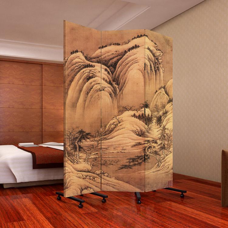笑盈盈家居 印花杉木面料工艺木质工艺胶合复合面料艺术现代中式 pf3图片
