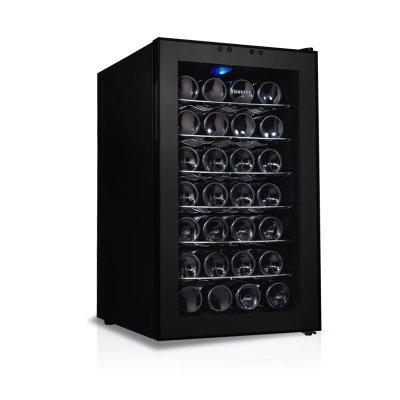 维诺卡夫 黑色R600a2级金属层架侧开门21L电脑控温 酒柜