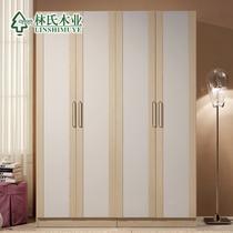 白枫人造板密度板/纤维板储藏平拉门成人简约现代 衣柜
