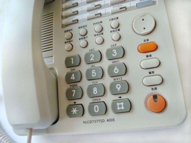 有绳电话座式经典方形店铺三包-电话机