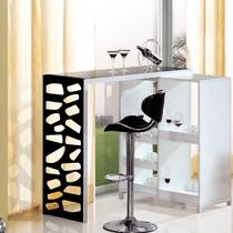 图片色钢化玻璃焊接玻璃工艺金属工艺框架结构旋转简约现代 吧台