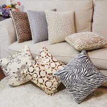 毛绒靠垫被化纤植物花卉简约现代 抱枕