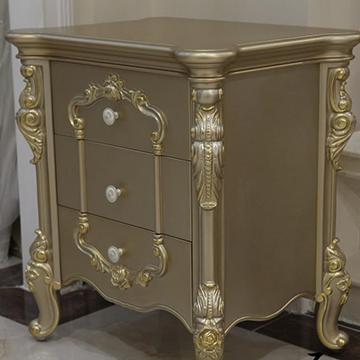 橡木 风格 欧式 颜色分类 白色床头柜香槟金色床头柜 是否可定制 否