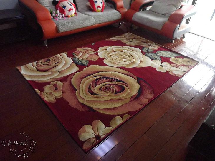 博奕东方808红地毯 BOYIDITAN 混纺植物花卉长方形无纺织造 地毯
