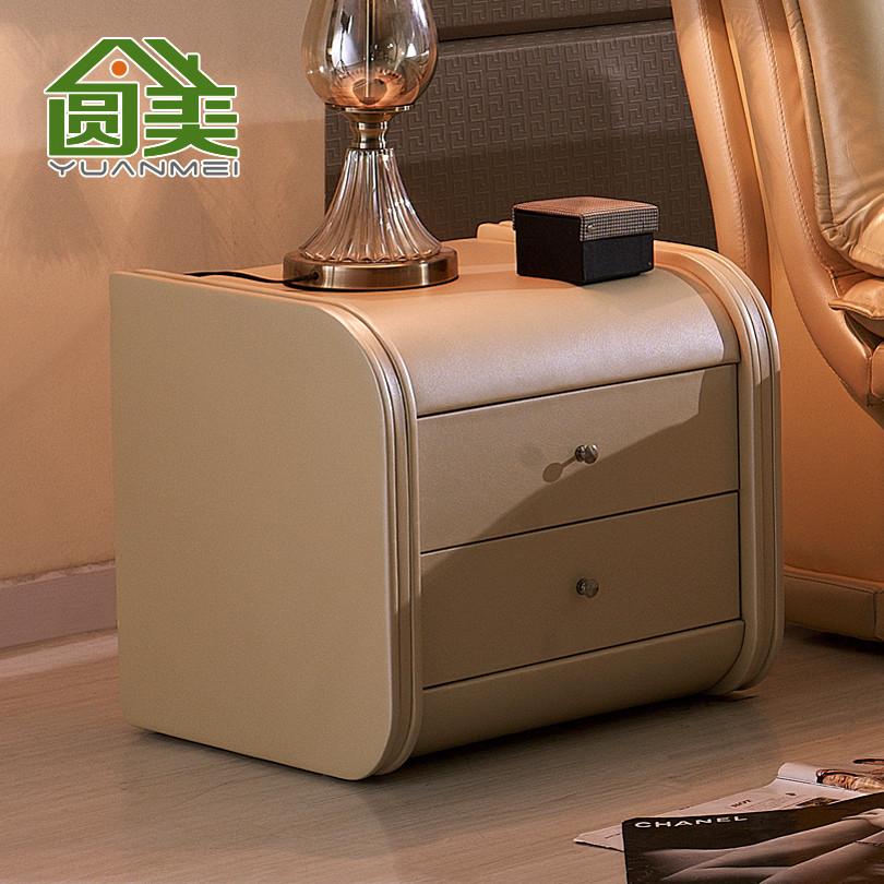 圆美 人造板密度板/纤维板皮革成人欧式 C07床头柜