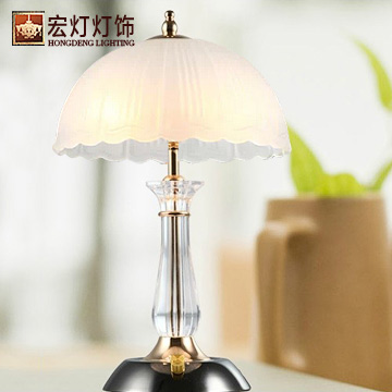 宏灯灯饰款有机玻璃欧式镀铬白炽灯台灯