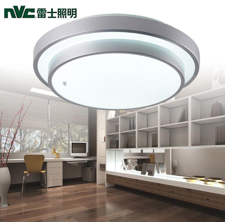 雷士有机玻璃铁简约现代圆形节能灯雷士吸顶灯