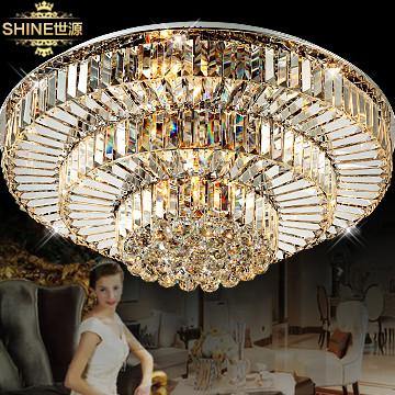 世源 欧式镀铬圆形节能灯led 吸顶灯