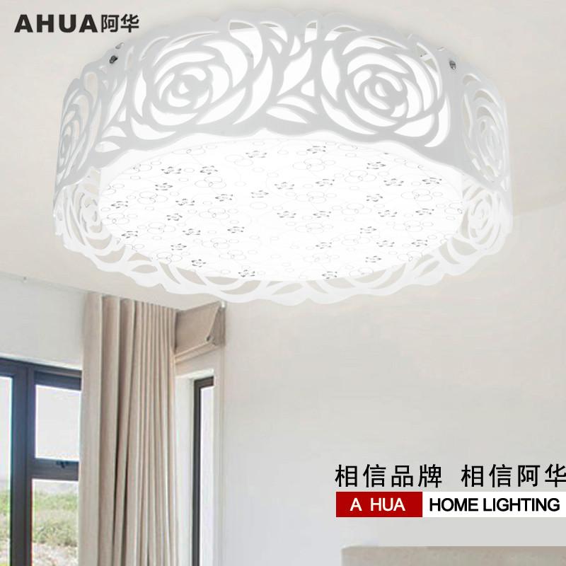 阿华有机玻璃铁简约现代镂空雕花圆形白炽灯节能灯吸顶灯