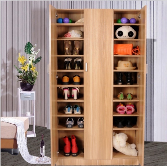 飞韵 密度板/纤维板对开门简约现代 鞋柜