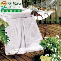 白色绗缝单孔纤维空调被/夏凉被涤纶化纤纤维被 被芯