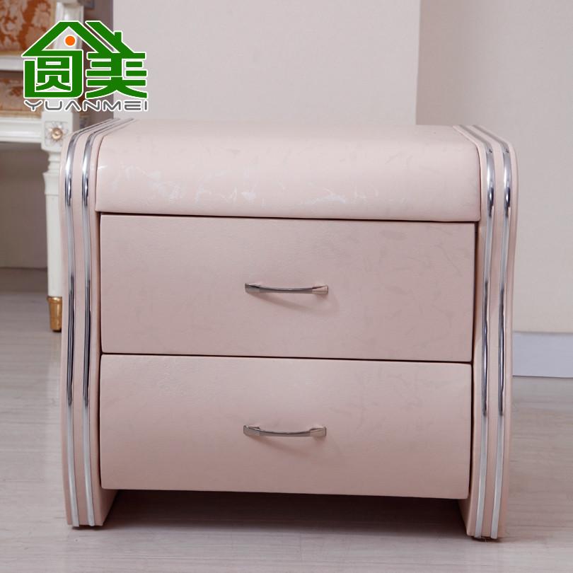 圆美 人造板密度板/纤维板皮革成人欧式 C75床头柜
