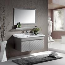 不锈钢一体陶瓷盆E0级简约现代 HB8004浴室柜