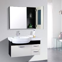 含带浴室镜柜一体陶瓷盆田园 浴室柜