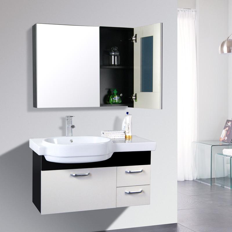 艾戈戀家 含帶浴室鏡柜一體陶瓷盆田園 浴室柜