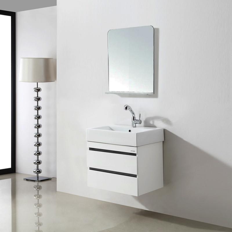 安華潔具 PVC板一體陶瓷盆E0級簡約現代 浴室柜