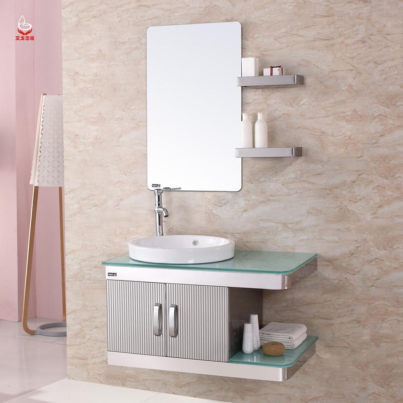 艾戈恋家不锈钢含带配套面盆人造石台面田园-浴室柜