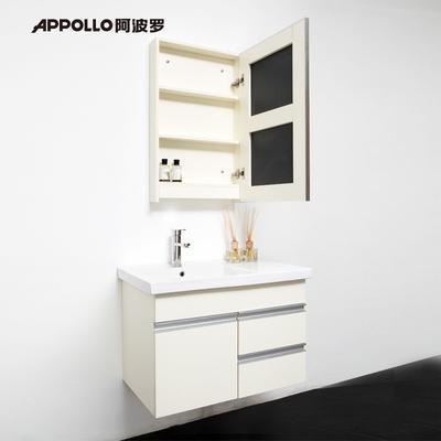 阿波羅 三聚氰胺板一體陶瓷盆簡約現代 浴室柜