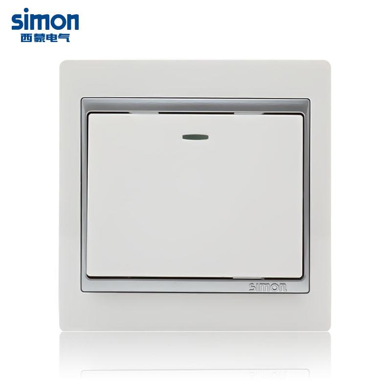 西蒙 雅白86型 Simon/西蒙 58系列 S51026BY开关
