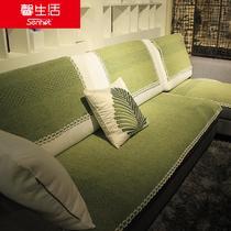 布纯色组合沙发简约现代 沙发垫