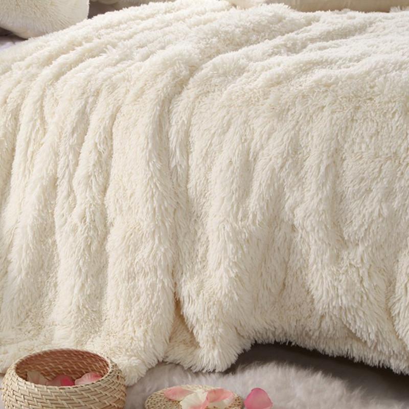 馨尔梦-毛巾毯一等品冬季纯色韩式毛毯
