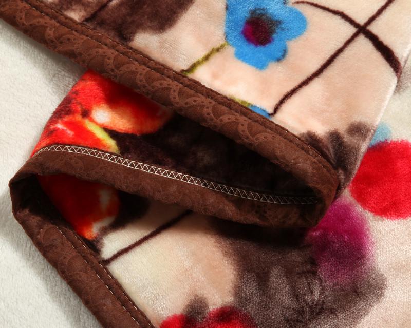 洛雅轩冬季植物花卉毛毯