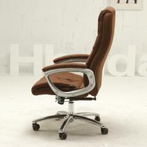 褐色固定扶手铝合金脚布艺 HDNY0036电脑椅