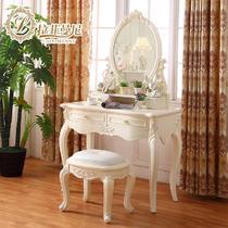 象牙白+玫瑰描银组装木框架结构储藏艺术成人欧式 梳妆台