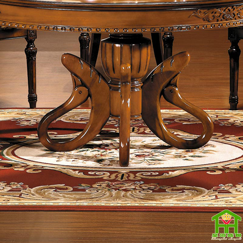 皇海盛世 组装框架结构橡木拆装圆形欧式 hh718s餐桌