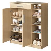 人造板福州刨花板/三聚氰胺板PVC框架结构储藏对开门简约现代 鞋柜