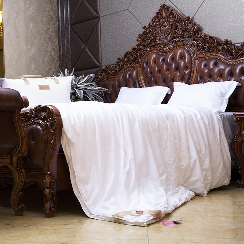 淮远丝坊桑蚕丝手工定位子母被四季被提花长绒棉优等品被子