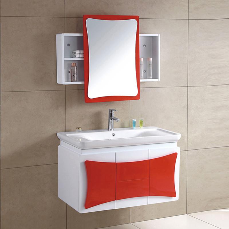 卡士伦橡木一体陶瓷盆级现代中式浴室柜