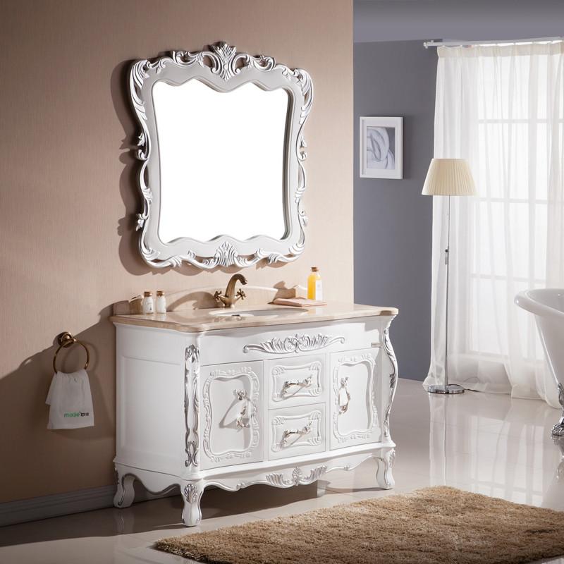妙洁橡木含带配套面盆大理石台面简约现代浴室柜