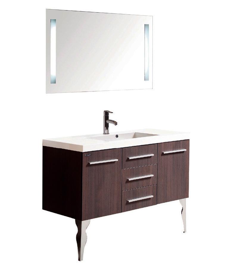 卡丽橡木一体陶瓷盆级简约现代浴室柜