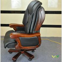 彩牛黑牛固定扶手实木脚皮艺 S-9113大班椅
