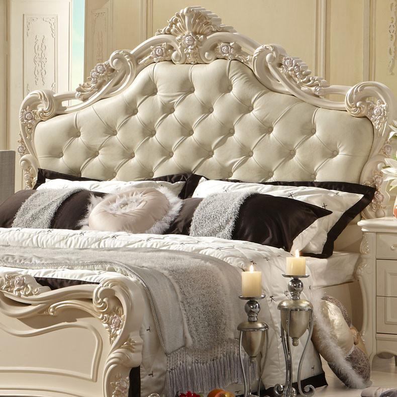 法丽莎橡木框架结构欧式雕刻-床