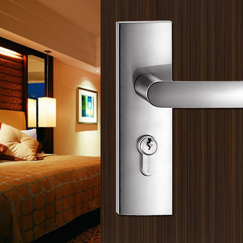 派迪左内左外右内右外拉丝不锈钢锁室内门双锁舌--锁具
