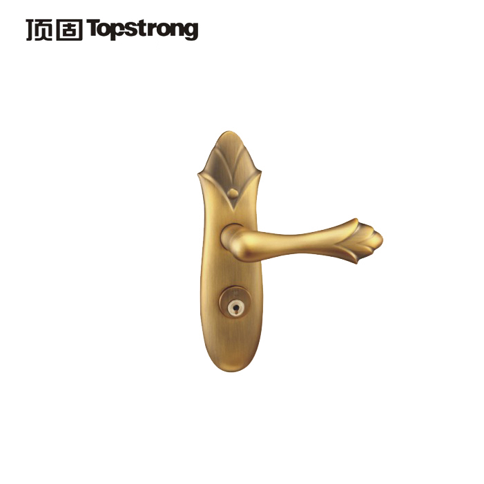 顶固左内左外右内右外喷砂金棕古色斜舌锁具