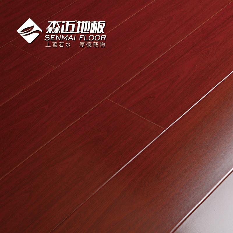 森迈酒红色高密度纤维板型槽地板