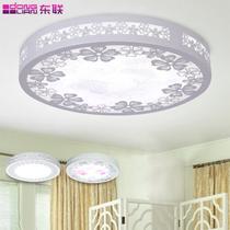 PVC木田园镂空雕花圆形LED X77吸顶灯