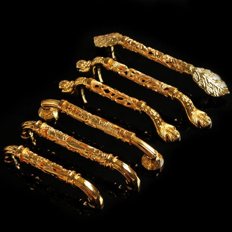 通用锁具锌合金金色系列拉手