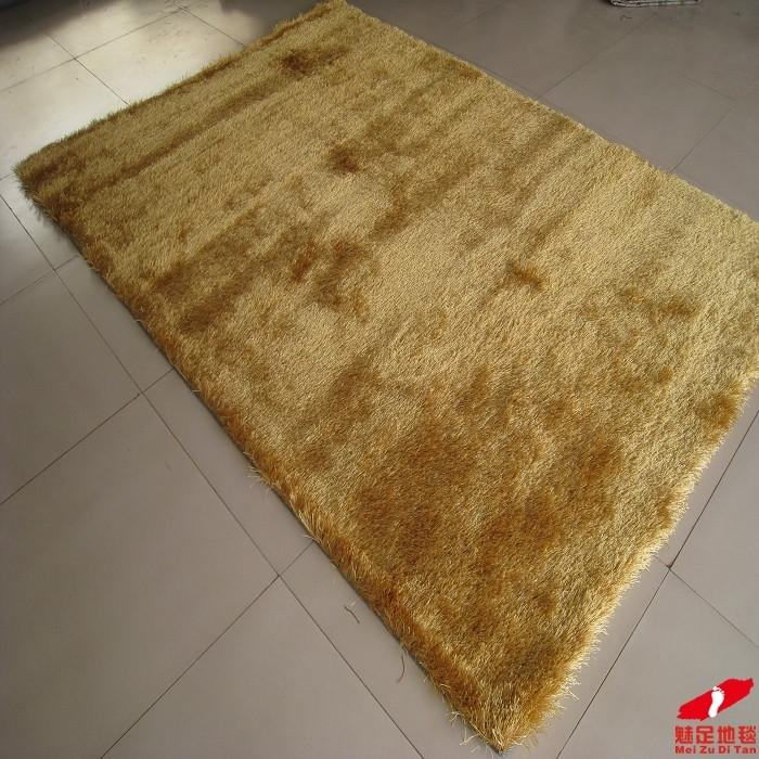 魅足地毯 蚕丝纯色长方形机器织造 地毯