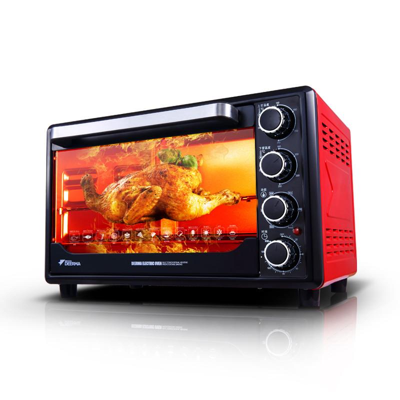 德尔玛 红色全国联保机械式卧式 电烤箱