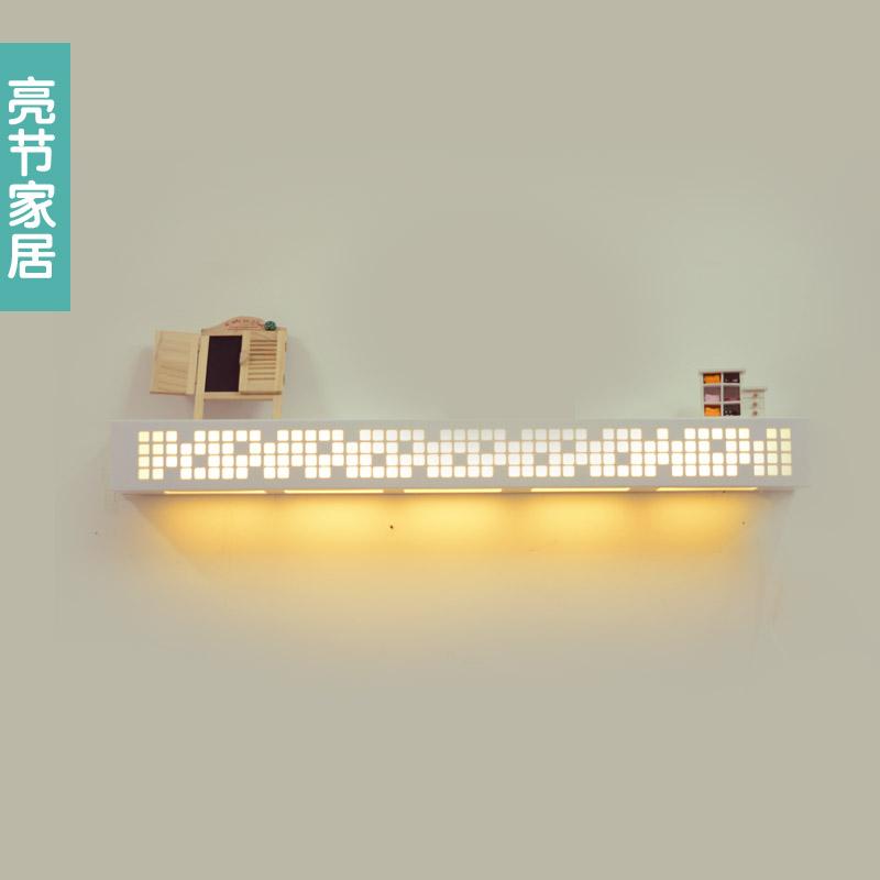 亮节 PVC高分子聚合物简约现代镂空雕花白炽灯节能灯LED 壁灯
