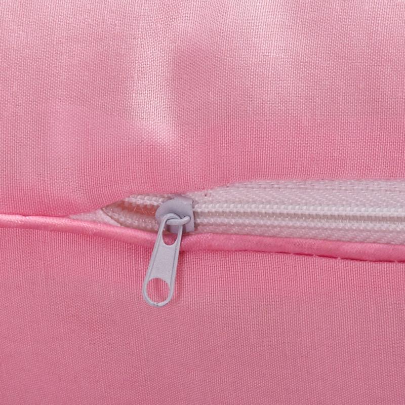 流水星光 粉红色十孔枕斜纹布优等品棉布纤维枕长方形 枕头