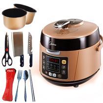 巧克力色煲煮炖焖预约定时全国联保微电脑式 电压力锅