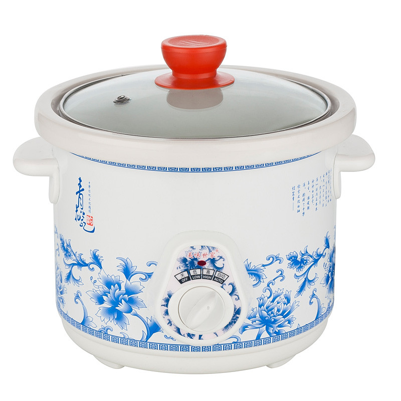 美味世家 白色白瓷全国联保煲汤煮粥炖机械式 电炖锅